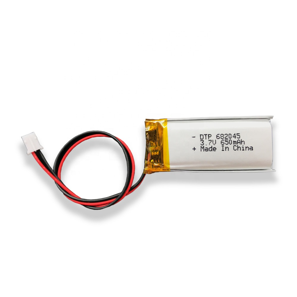 good price 3.7 v DTP382045 650mah lithium polymer battery