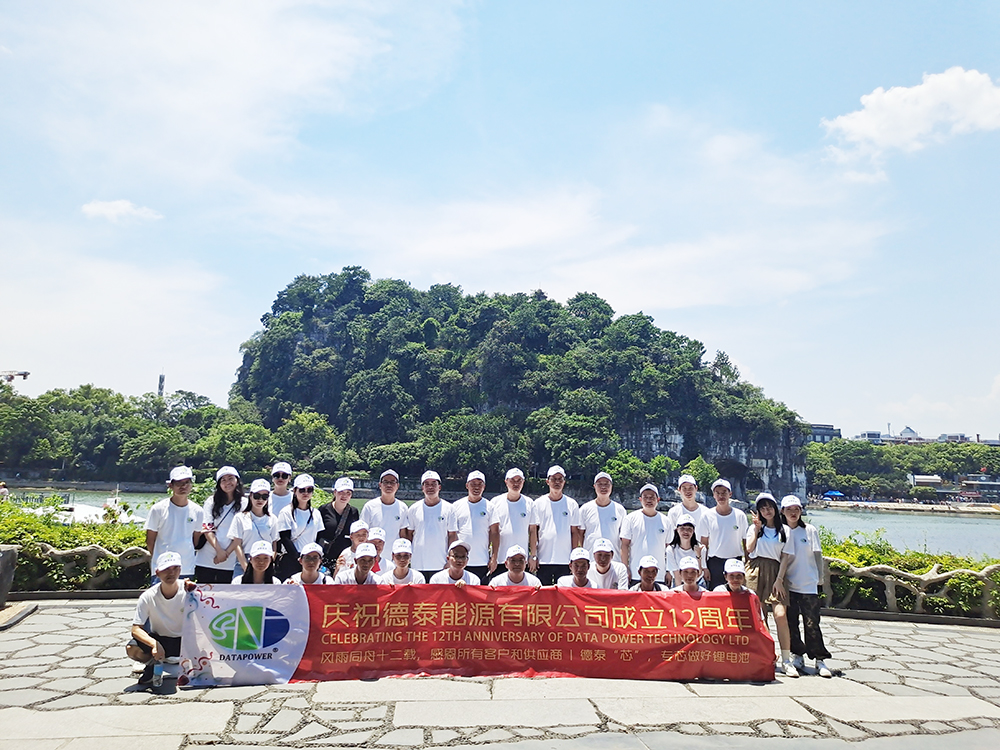 The company team travel to celebrate company's 12th anniversary   DTP battery